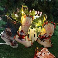Christmas Stockings Santa Socks Ornaments Candy Gift Bag Xmas Tree Hanging Decor
