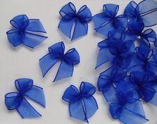 """1"""" (W) Royal Blue Organza Ribbon Bows Appliques-50 pcs (R0102DR)"""