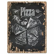 PP0574 Pizza Plate Chic Sign Store Shop Cafe Home Kitchen Interior Decor Gift