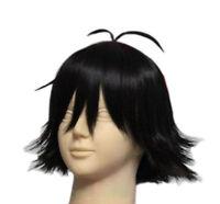 Ash Katchum Wig Black Short Straight Hair Pokemon Cosplay Costume Props Anime