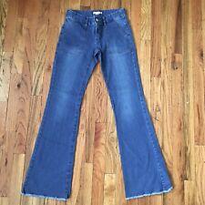 Bonpoint Eiffel Clair Jeans Size XS 12/14 Flare Raw Fray Hem EUC