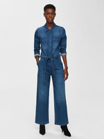 RRP - £ 110.00 SELECTED HOMME / FEMME DENIM - JUMPSUIT, SIZE 16