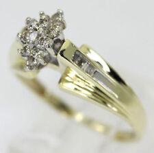 Anillos de joyería con diamantes en oro amarillo de 10 quilates