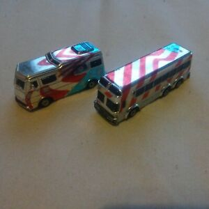 Micro Machines Classy Chromers American Flag RV And Bus