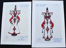 FOLIES BERGÈRE Paris  2 ORIGINAL COSTUME DRAWINGS by MICHEL GYARMATHY -  lot 4