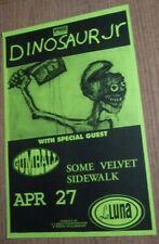 Dinosaur Jr. 1993 Original Concert Show Poster w/ Gumball + Some Velvet Sidewalk