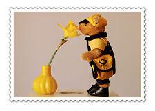 Postkarte Bruno Posti Maskottchen Deutsche Post AG Plüsch-Bär als Postbote NEU