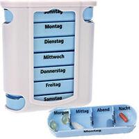 7 Tage Pillen Dose Tabletten, Medikamenten Box mit Fächern für Wochen Einteilung
