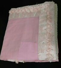 Boutique Designer Exclusive Baby Pink Party wear Heavy Border Saree for Bridal..