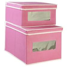 Little Lock Stock & Barrel Ricky Storage Box - Twin pack in Pink