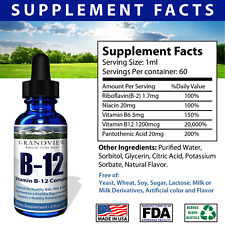 Vitamin B12 Liquid Drops - Best Way To Instantly Boost Energy Levels
