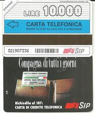 SCHEDA NUOVA N211A COMPAGNA TUTTI GIORNI 10.000 TP SCAD 21/12/94 LEGGI/INSERZIO