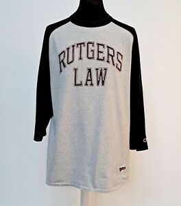 American Champion Tshirt Mens X Large Rutgers Law Baseball League Newark Varsity