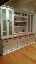 Local Made Grandview White Painted Library Wall Unit Kitchen Dresser Bookcases