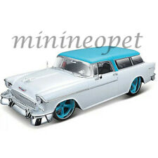MAISTO 32613 CLASSICS MUSCLE 1955 CHEVROLET BEL AIR NOMAD 1/18 WHITE / TURQUOISE