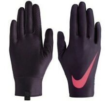 NIKE Pro Warm Liner Gloves Womens Sz S - Port Wine/Fusion Red