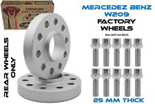 2PC MERCEDES BENZ 5X112 WHEEL SPACER KIT 25MM + EXTENDED BOLTS FITS CLK320 CLK55