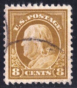 US STAMP #508 – 1917 8c Franklin, used XFS SUPERB