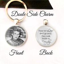 Personalised Double Sided Keyring Memorial Bereavement Loss Love Keepsake Gifts