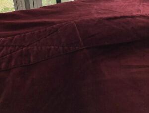 """Hawthorne Hill Burgandy Velvet Soft Full  Duvet Cover 82"""" X 80"""" Button Up"""