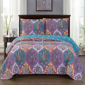 Beautiful Boho Viola Over sized Quilted Coverlet Set