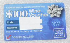 Naked Wines $100 Gift Card Wine Voucher Certificate Stocking Stuffer Free Ship