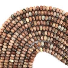"10mm pink jasper rondelle beads 15.5"" strand"