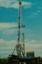 Vintage Oil Well Williston Basin Western North Dakota Oil Fracking Postcard