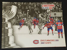 2009 MONTREAL CANADIENS BELL CENTER PLAYOFFS TICKET (14) IN COMMEMORATIVE ALBUM