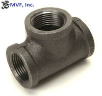 "1/2"" 150 Female NPT Tee Black Malleable Iron Pipe Fitting <MI030441BMI"