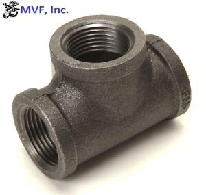 "1/2"" 150 Female NPT Tee Black Malleable Iron Pipe Fitting <MI030441BMI"