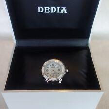 DEDIA Lily L Women's Diamond Mother of Pearl Swiss Watch white /black NEW $1,495