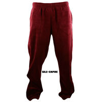 Fila Velour Regular Fit Pants Mens Burgundy Biking Red New LM163TN8-639 Rare
