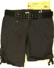 DA-NANG Womens Cotton Belted Black Shorts New with Tags Size Small