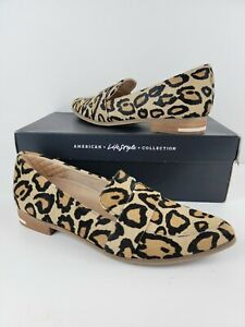 Dr Scholls Womens Leopard Print Slip Tan Black leather Calf hair Shoes 9 M $110