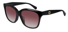 Gucci GG 0800SA 002 Black/Red Gradient Square Women's Sunglasses