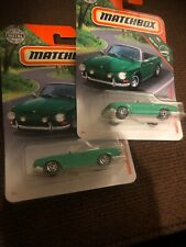 VOLKSWAGEN 2019 MATCHBOX 1/64 2 Pcs. ROAD TRIP 12/20 GREEN TYPE 34 KARMANN GHIA