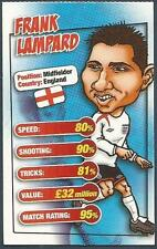 MATCH MAGAZINE SOCCER STAR CARICATURE CARD-ENGLAND-FRANK LAMPARD