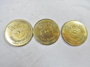 3 jetons médailles de POKEMON