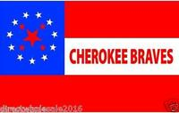 "Set of 2 Cherokee Braves flag decals 4"" vinyl sticker USA"