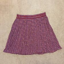 Banana Republic 6 Red White Blue Pleated Knee Length Circle Skirt Lined