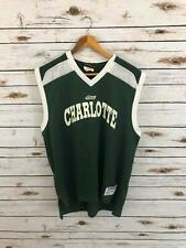 Vintage Charlotte 49ers Team issued Green Basketball Jersey Size L