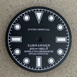 28.5MM Green Luminous Watch Dial for NH35A/NH36 SKX007 Movement