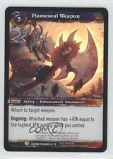 2013 World of Warcraft TCG: Caverns Time #28 Flamesoul Weapon Gaming Card 0y9