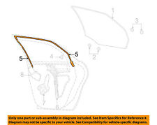 FORD OEM Window Glass-Rear Door-Run Channel Left 4F4Z5425767AA