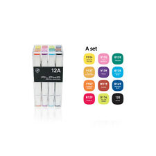 Graphic Art Marker Alpha Brush Marker Twin Tip 12A Colors illustration Animation