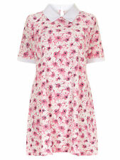BNWT Ladies size 24 Ruby's Closet White Pink Daisy Flower Tunic Dress RRP £35.00