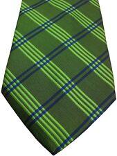 ERMENEGILDO ZEGNA Mens Tie Green - Green & Blue Check NEW
