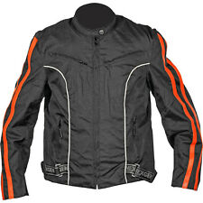 NexGen Textile Lightweight Motorcycle Jacket Black/Orange Women's XLarge