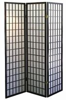4 & 3  PANEL ROOM DIVIDER SCREEN ORIENTAL SHOJI 3 Color